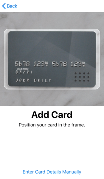Activate Apple Pay