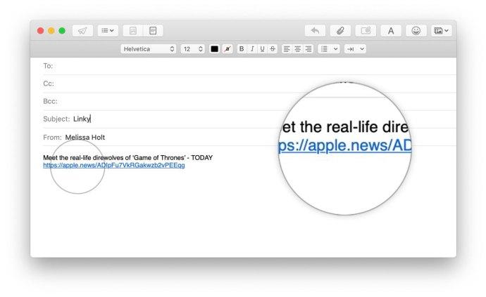 apple news share link