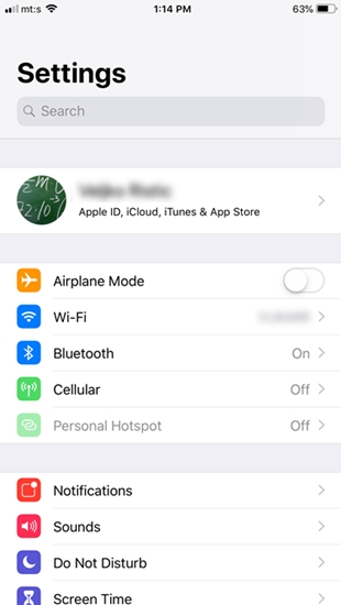 disable find my iphone