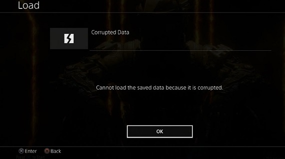 fix corrupted data on the ps4