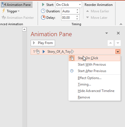 how to automatically Play Audio PowerPoint