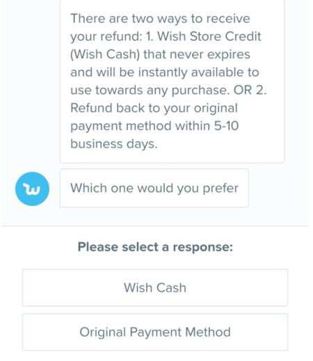 how to cancel wish app