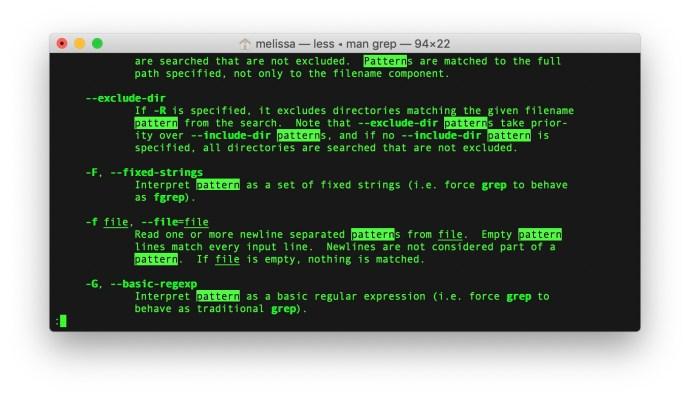 mac terminal man search results