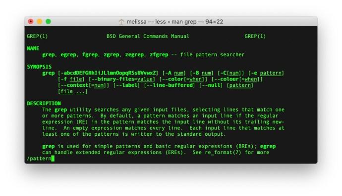mac terminal man search
