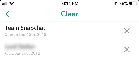 what does clear conversation do snapchat