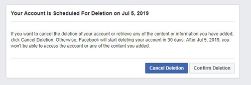 Cancel Deletion