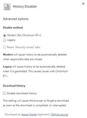 History Disabler