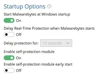 MB Startup Options