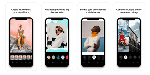 Make a photo collage on iPhone XR