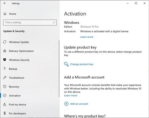 Activación de Windows