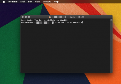 how to grep without a file name