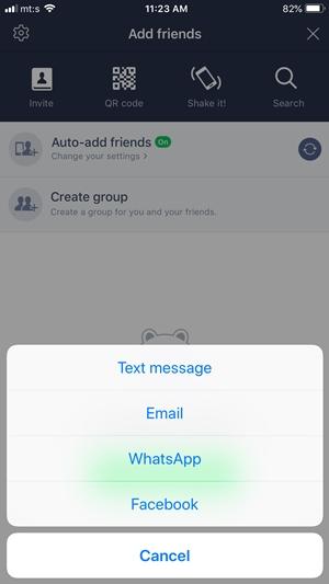 линия чат приложение как добавить друга
