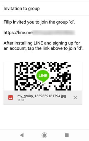 line email invite