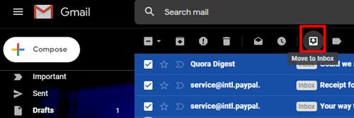move to inbox