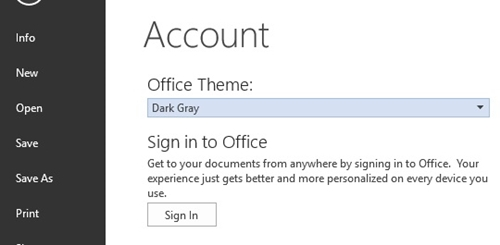office theme dark gray