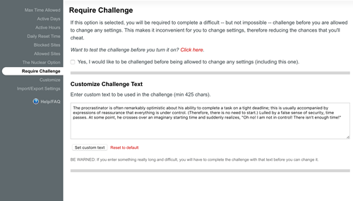 require challenge