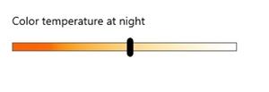 Color temperature at night