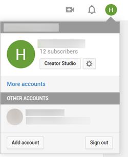 Creator Studio Button