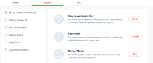 Garena security