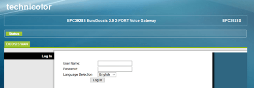 Log in to the router website