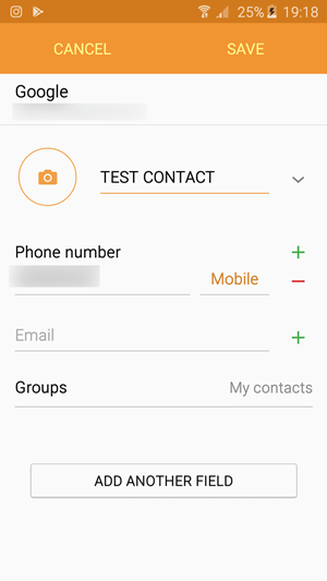 TEST CONTACT