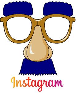 instagram поддельный нос