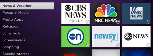 Official Free Local TV Channels on the Roku Store