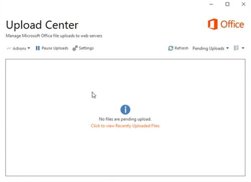 Upload Center