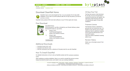 cleanmail home