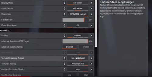 texture streaming budget