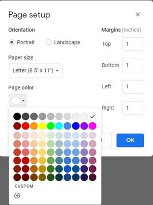 Page Colors
