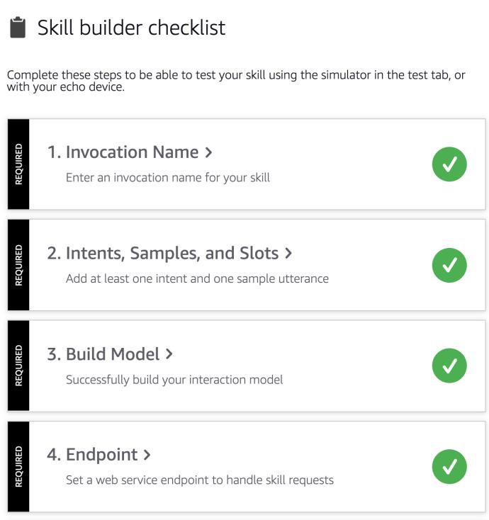 skill builder checklist