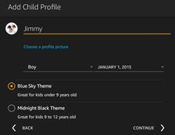 add child profile