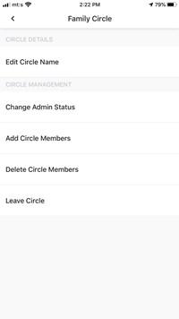 delete circle members