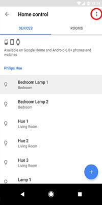 удалить домашнее устройство Google