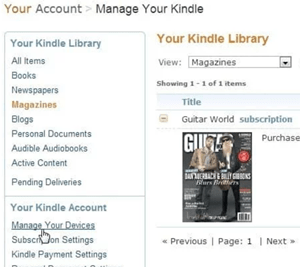 manage your kindle