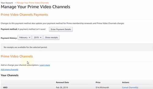 manage your prime video channels