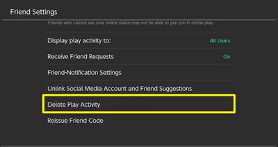 Delete Play Activity