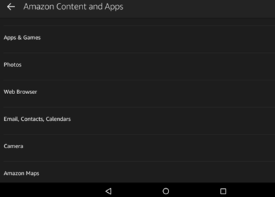 amazon content and apps
