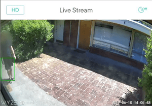 enable wyze cam person detection