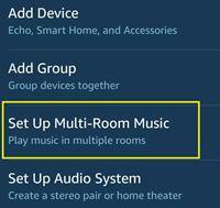set up multi-room music