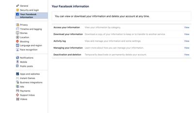 Деактивировать Facebook Messenger