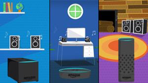 Echo Dots play music