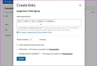 How to Limit Responses in Google Forms Create Links