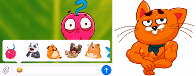 Telegram makes animated stickers