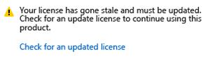 Update Visual Studio License