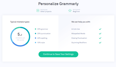 personalise grammarly