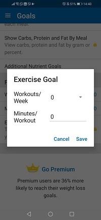 exercise goal