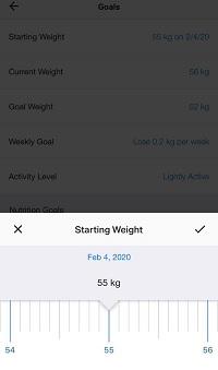 starting weight