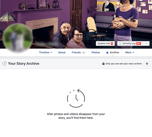Delete Story Facebook